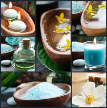 Collage Spa en bleu
