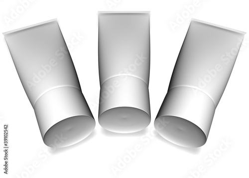 Tubes on a white background