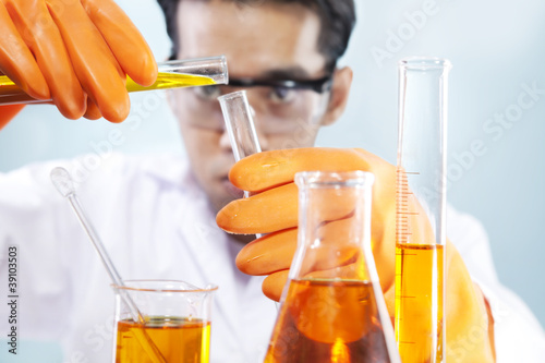 Scientist doing analysis in a laboratory
