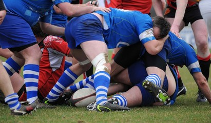 la mélée du rugby