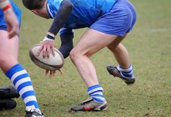 une sortie de mélée au rugby
