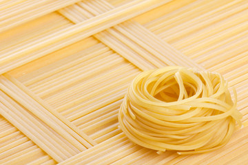 Tagliatelle and spaghetti