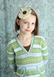 Cute young girl with flower headband