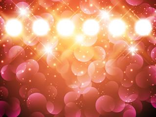 spotlights with stars
