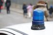 Veicolo della Polizia Locale all'uscita di scuola