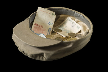 Hat and money