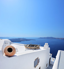 View of a building on Santorini island, Greece