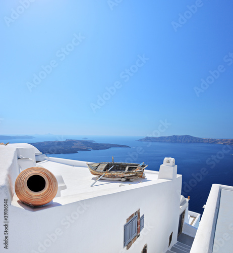 View of a building on Santorini island, Greece