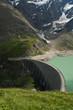 Kaprun Dam, lake and Alps