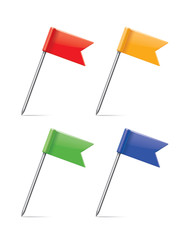 multicolor flag pushpin