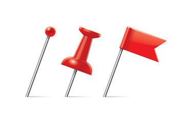red pushpin set