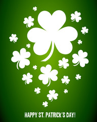 Irish Shamrock Clovers Vector