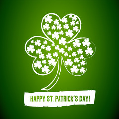 Irish Shamrock Clovers Background
