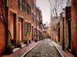 Acorn Street in Boston's historic Beacon Hill neighborhood