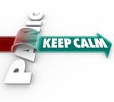 Keep Calm Arrow Over Word Panic Stress Pressure poster