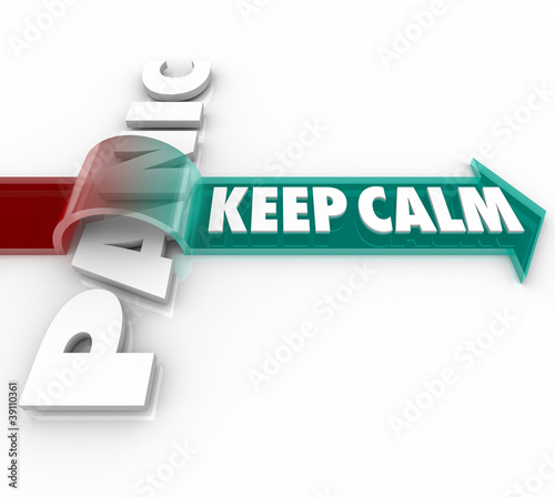 Keep Calm Arrow Over Word Panic Stress Pressure