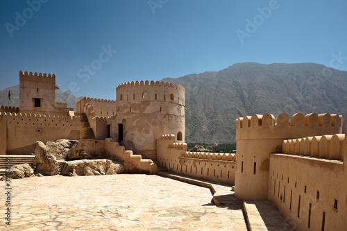 Leinwanddruck Bild The Nakhl Fort in Al Batinah, Oman