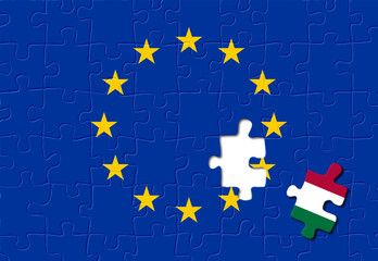 Jigsaw puzzle showing Italy is a part of the European Union