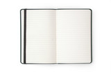 Open blank notebook / phonebook / diary