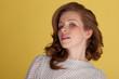 Attractive redhead portrait