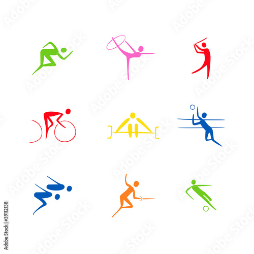 sports icons vector set