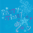 Party Time Birthday Doodles Vector Design Elements