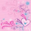 Sweet Heart Valentine's Day Love Vector Doodle