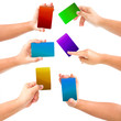 hand holding Color business card