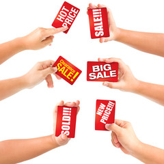 hand holding card sale discounts