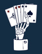 Skeleton Hand with Cards