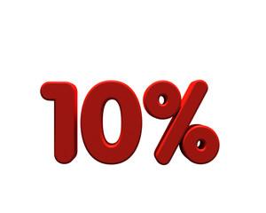 10% percents discount 3D type