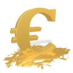 Евро тает