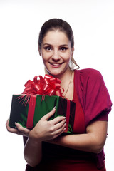 Young woman with present
