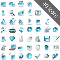 Icon-Set blau
