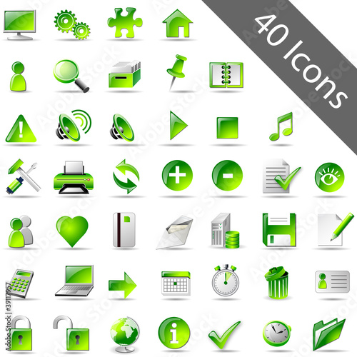 Icon-Set Grün