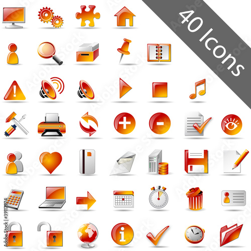 Icon-Set orange