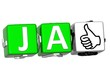 The word Ja - Yes in many different languages.