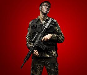 soldier posing