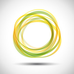Yellow green Rings Background