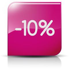 Symbole glossy vectoriel soldes promo -10%