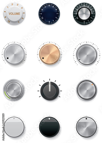 Vector knobs set