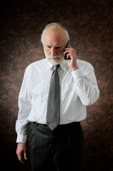 a man talking in his phone