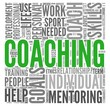 Coaching concept in word tag cloud