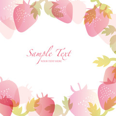 spring background with strawberry