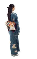 Back View Kimono Woman