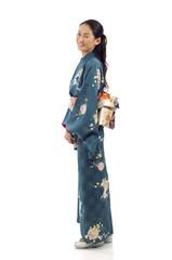 Side View Kimono Woman