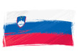 Grunge Slovenia flag