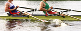 rowing athletes in training