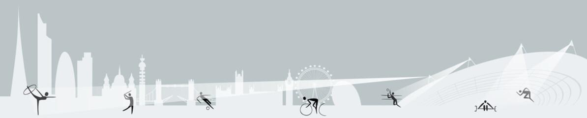 London Olympics banner vector