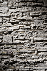 sfondo di muro in pietra grigia